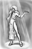 Dasien as a Lounge Singer by Neilsama