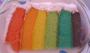 Piece of Rainbow Cake by Roxii-Lovegood