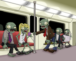 Zombie Commuters by AiTuDou