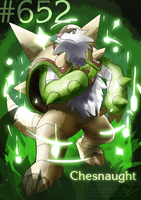#652 - Chesnaught by Draconica5