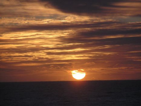 sun set over the Pacific by Christshonna