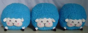 Cotton Candy Sheep Plush! _Blue by LuckySquidStudios