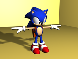 SatAM Sonic in 3D by RyanEchidnaSEAL