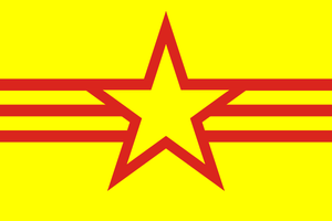 Pan-Vietnamese flag by hosmich