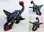 Alpha Toothless with Heart Crystal by HowManyDragons
