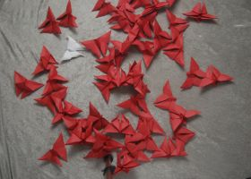 Origami Butterflies 3 by themuseslibrary