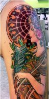mucha tattoo .le plume2 by mojoncio