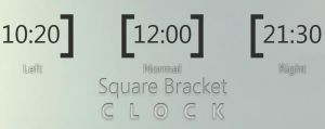 square bracket 1.0 - Clock by MJ-lim