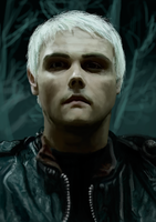 Gerard Way portait Digital drawing by koburuga