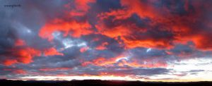 Canberra Sunset Clouds Pano by youngbeth