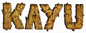 Wood typography by shierly85