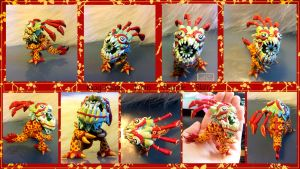 Kog'maw Lion Dance Skin commission by Faye-Fox