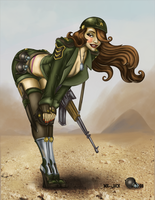 Military Pinup Colored by Seatha