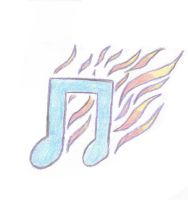 Flaming music note by Spottoxic