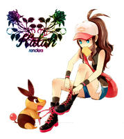 Pokemon White Render by KataSangoHaruhi