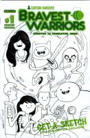 BRAVEST WARRIORS/ADVENTURE TIME  sketch cover by mdavidct