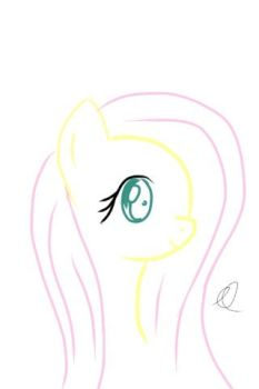 Quick Fluttershy Drawing by emtheomelette
