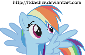 Rainbow Dash is flawless Vector by LtDasher