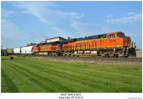 BNSF 6949 + 4615 by hunter1828