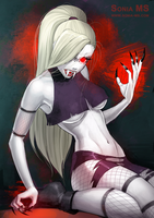 Commission: Ino vampire by MSonia