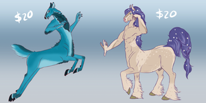 Centaur Adopts by Fae-Puppy