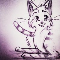 Cat Doodle by Bast-The-Cat-Goddess