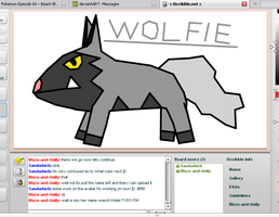 Wolfie in iScribble by blase005