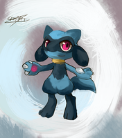 Ruru The Riolu by LizardonEievui13