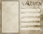 Valeven Character Sheet Template by Substrain-Seven
