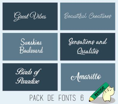 Pack Fonts #6 by hitose