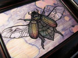 Jewelled Scarab Beetle Tangle by MayhemHere