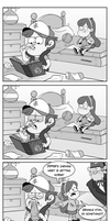Dipper's chewing habit by markmak