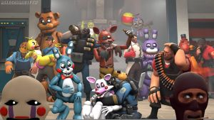 FNAF and TF2 by OfficerSchmidtFTW