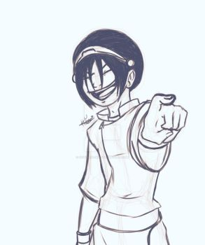 TBT Sketch 2- Toph Beifong by october-ink