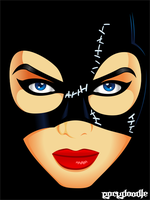 Catwoman Colored by Rockdoodle