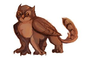 Owl Gryphon by Professor-R