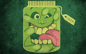 Slimer in a Jar T-Shirt Design by alsnow