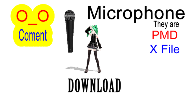 MMD Microphone (PMD or X File) by RukkaGeigTM