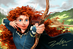 Merida Shooting by SeiraSky