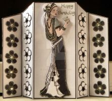 Black and White Deco Beauty Card by blackrose1959