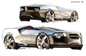 Concept car sketch 5 by Rykunov