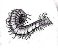 Lovecraft - Centipede Creature, Witch House by KingOvRats