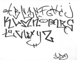graffiti alphabet by BerkdaNgriv