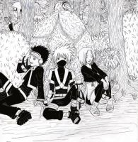 Kakashi Gaiden team by Zogrem