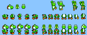 Third Yoshi Sprite Sheet by Legend-tony980