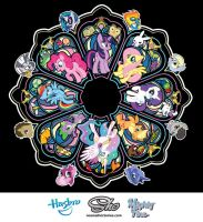 My Little Pony Rose Window by nosmallvictories