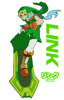 Sonic Riders: Link Design by SiscoCentral1915