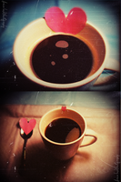 Coffee with a pinch of hearts. by airicalush