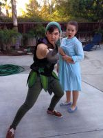 Peter Pan and Wendy Costumes by strongcactus