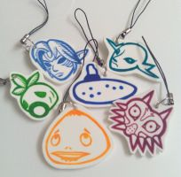 Majora's Mask Charms by IamSare